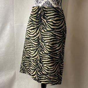 Fancy faux fur skirt.